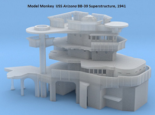1/720 USS Arizona BB-39 Superstructure, 1941