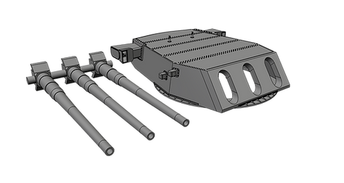 """1/128 Iowa class and Montana class 16""""/50 cal. Turret with Barrels"""