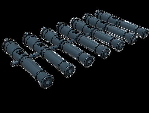 1/146 Royal Navy 24-pounder Cannons, Blomefield 1790 long-pattern