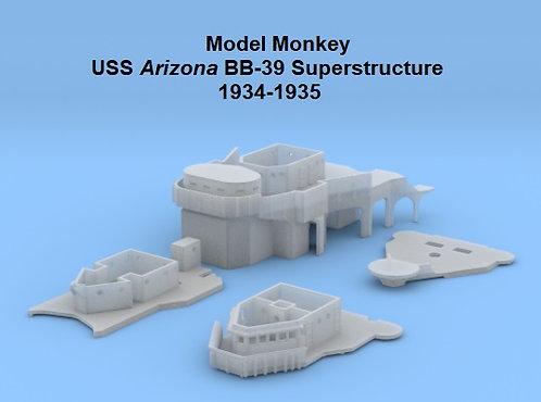1/700 USS Arizona BB-39 Superstructure, 1934-1935