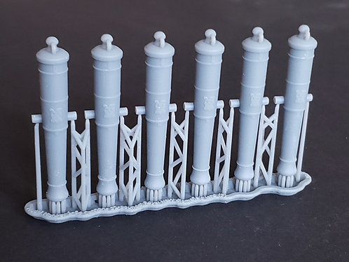 1/64 Royal Navy 32-pounder Cannons, Blomefield 1790 long-pattern