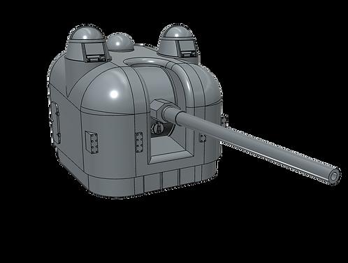 """1/192 5""""/54 cal. Mk.42 """"Frog-eye"""" Mount, double dome"""