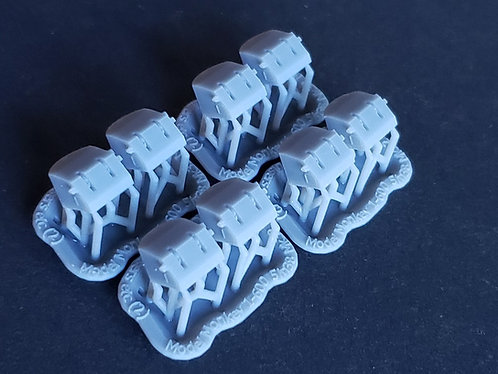 """1/600 5""""/38 cal. Mk.32 Twin Mounts for Cruisers and Aircraft Carriers"""
