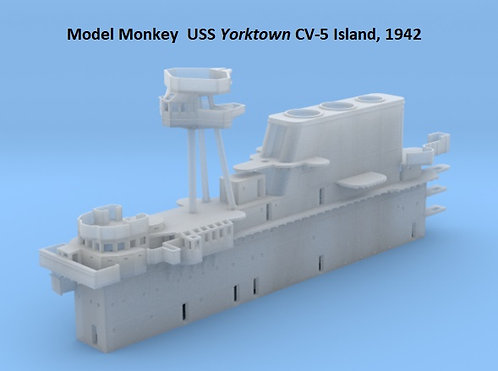 1/200 USS Yorktown CV-5 Island, 1942 (for Trumpeter)