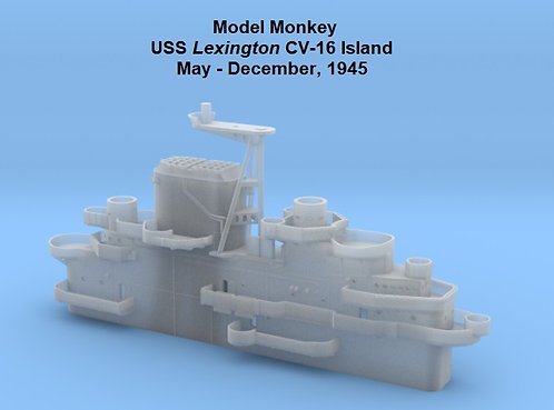 1/200 USS Lexington CV-16 Island, May-December 1945