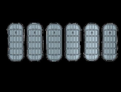 "1/72 Ship's Doors, US Navy, Set C, 5-bar, Condition ""Y"""