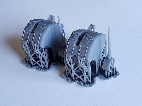 """1/125 5""""/38 cal. """"Double Knuckle"""" Mounts, early"""