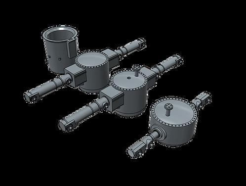 1/200 Gneisenau Main Battery Rangefinders