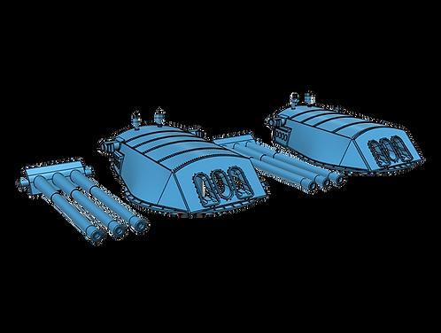 1/192 USS Arizona BB-39 Turrets, 1929-1941, with Barrels