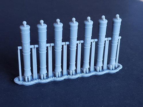 1/84 Royal Navy 24-pounder Cannons, Blomefield 1790 long-pattern