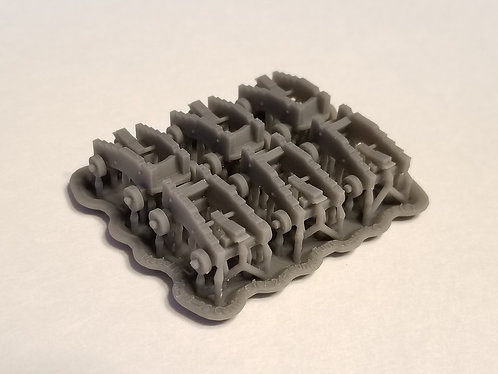 1/96 Carriages for 24-pounder Furnace-Hope Cannons