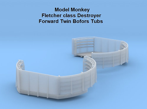 1/96 Fletcher class Forward Twin Bofors Tubs