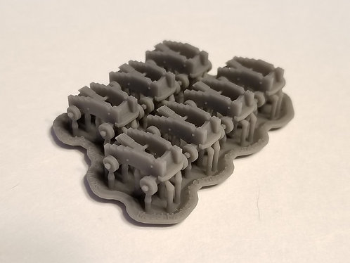 1/96 Carriages for 12-pounder Cannons, short-pattern