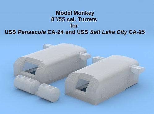 "1/192 USS Pensacola CA-24 and USS Salt Lake City CA-35 8""/55 cal. Turret"
