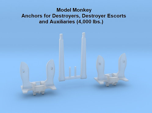 1/128 Anchors for Destroyers, Destroyer Escorts, etc., 4,000 lbs.