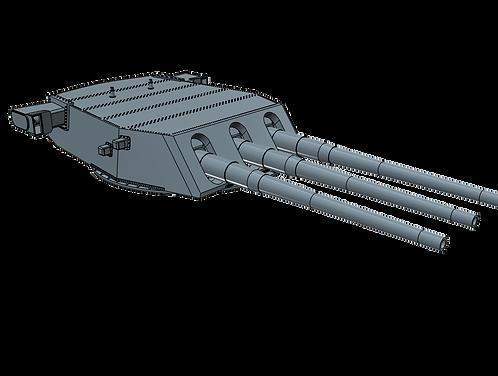 "1/200 Iowa class 16""/50 cal. Turrets with Barrels"