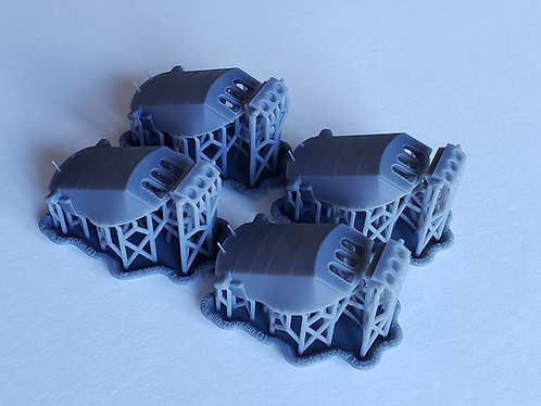 1/350 USS Pennsylvania BB-38 Turrets, 1929-1945, with Trunnions