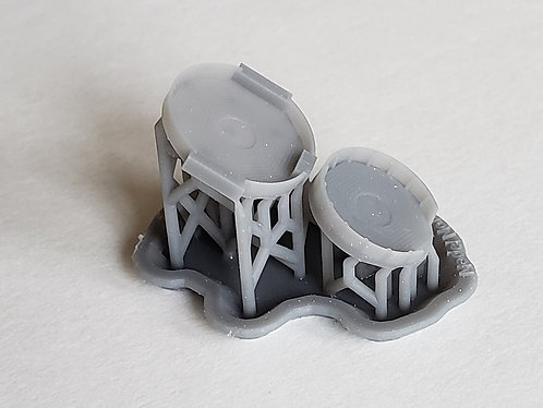 1/350 Tirpitz Forward Flak Tubs