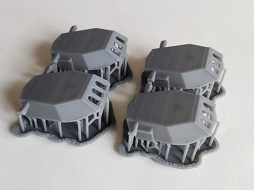 1/350 USS Tennessee BB-43 and late USS California BB-44 Turrets