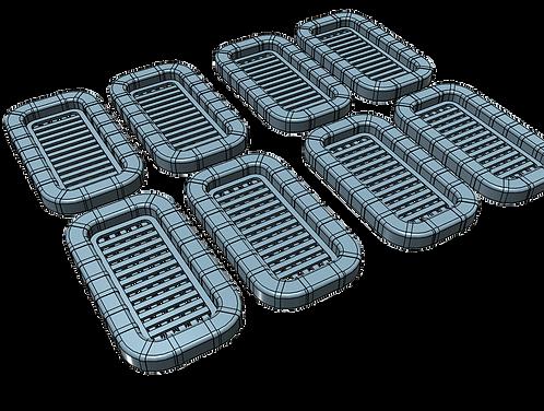 1/128 Life Rafts, 25-man rectangular (set of 8)