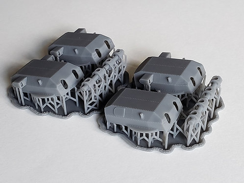 1/350 Bismarck and Tirpitz 38 cm Turrets with Trunnions