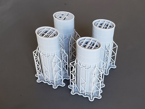 1/200 Titanic Funnels, no exterior pipes or whistles