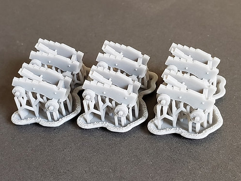 """1/72 Carriages for 12-pounder """"short-pattern"""" Cannons"""