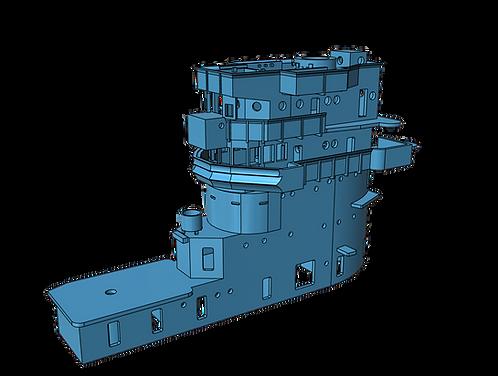 1/350 USS Saratoga CV-3 Island, 1942