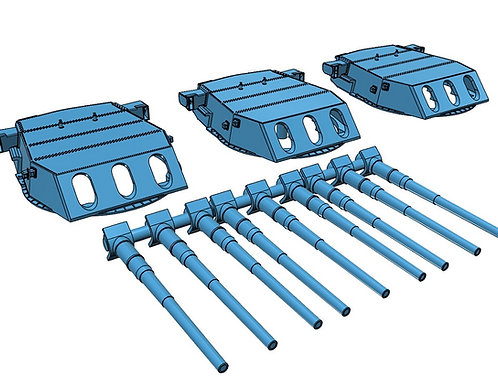 "1/192 North Carolina class 16""/45 cal. Turrets with Barrels"