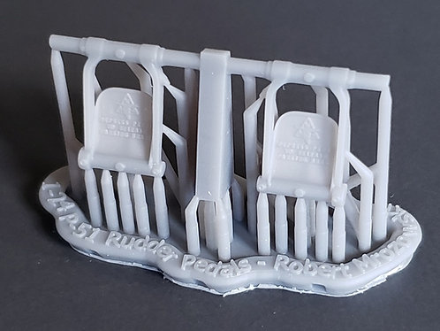 1/24 Rudder Pedals for Airfix P-51D, P-51K, and Mustang Mk.IV