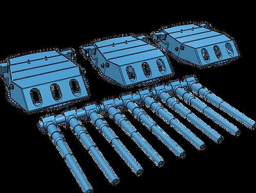 "1/200 South Dakota class 16""/45 cal. Turrets with Barrels"