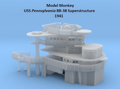 1/720 USS Pennsylvania BB-38 Superstructure, 1941