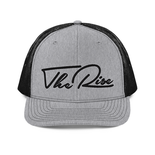 The Rise Embroidered | Grey Mesh Back Hat