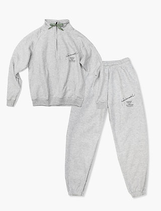 COLLECTION GREY ZIP NECK SET