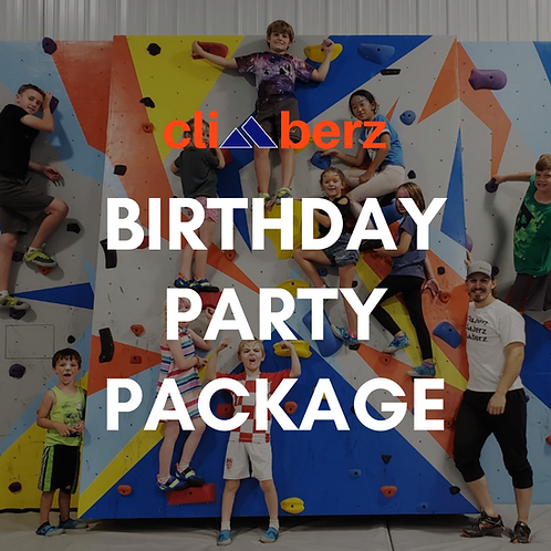 Climberz Birthday Party Package