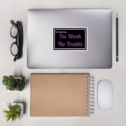 My Therapist Says Laptop Sticker