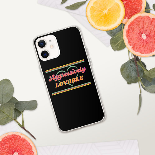 Aggressively Lovable iPhone Case (black)
