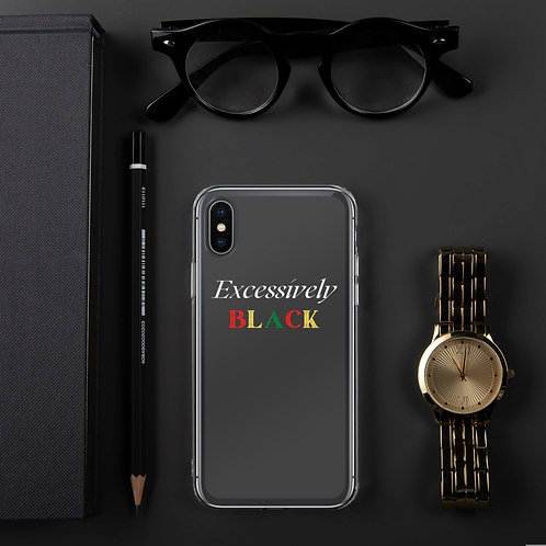 Excessively Black iPhone Case