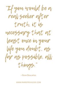 truth seeker Rene Descartes