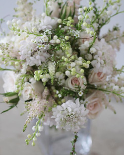 Bouquet with lily of the valley