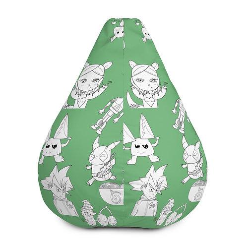 Green Bean Bag Chair w/ filling