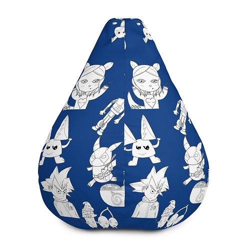 Blue Bean Bag Chair w/ filling