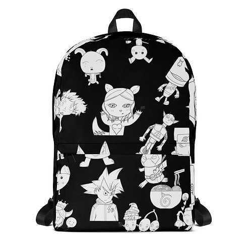 Black All-Over Print Backpack