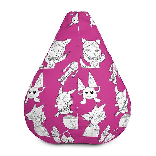 Fuschia Bean Bag Chair w/ filling