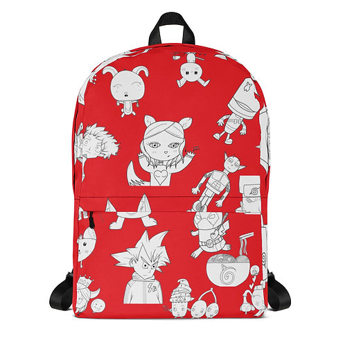Red All-Over Print Backpack