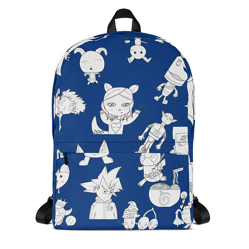 Blue All-Over Print Backpack