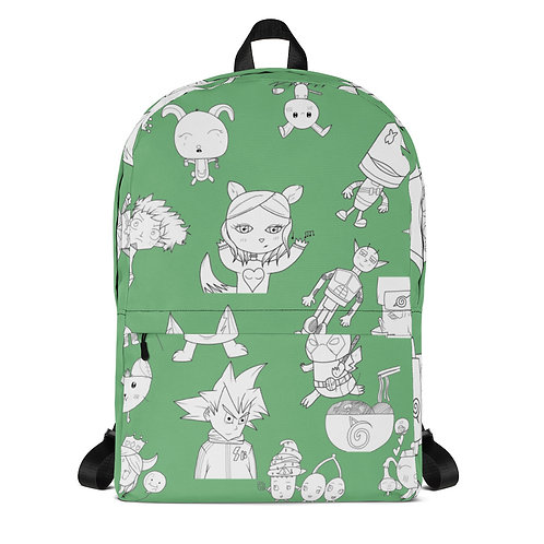 Green All-Over Print Backpack