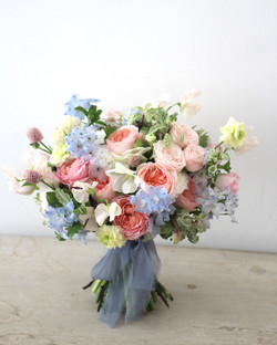 Soft palette bridal bouquet