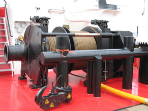 Aft towing winch