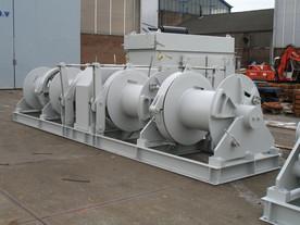 diesel hydraulic barge mooring winch